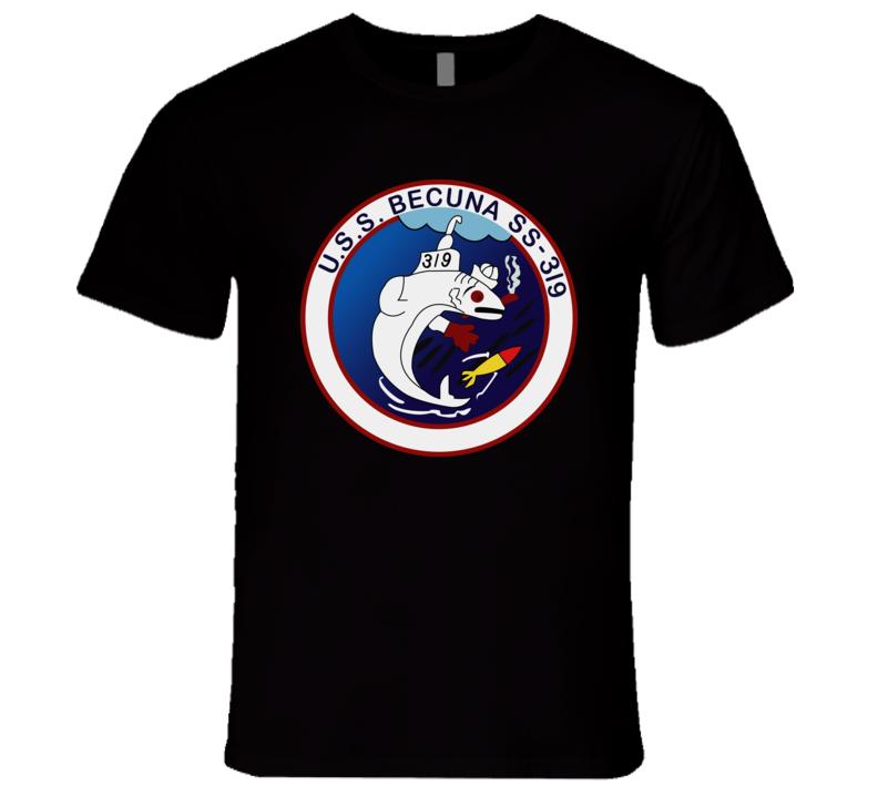 Navy - Uss Becuna (ss-319) Wo Txt T Shirt