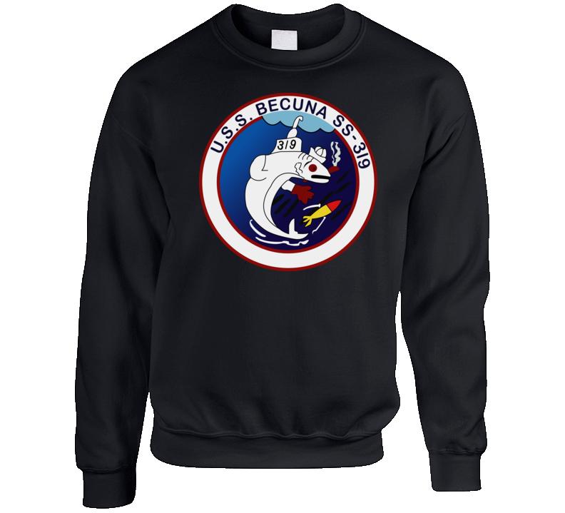 Navy - Uss Becuna (ss-319) Wo Txt Crewneck Sweatshirt