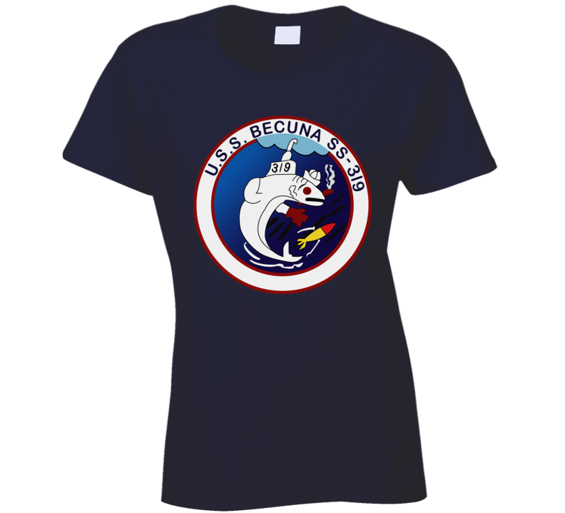 Navy - Uss Becuna (ss-319) Wo Txt Ladies T Shirt