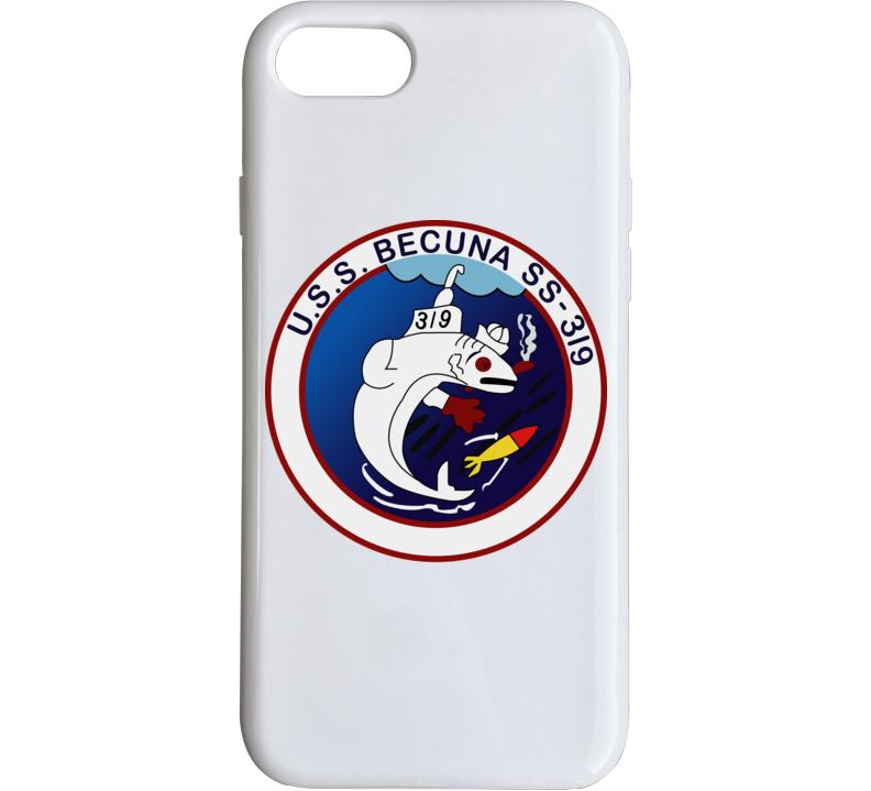 Navy - Uss Becuna (ss-319) Wo Txt Phone Case