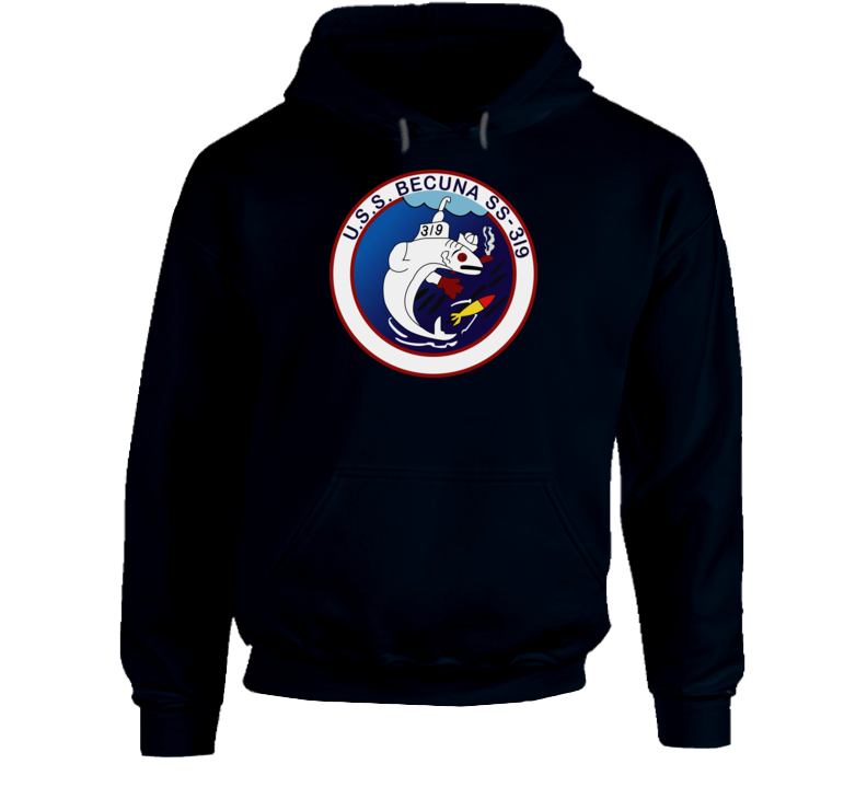 Navy - Uss Becuna (ss-319) Wo Txt Hoodie