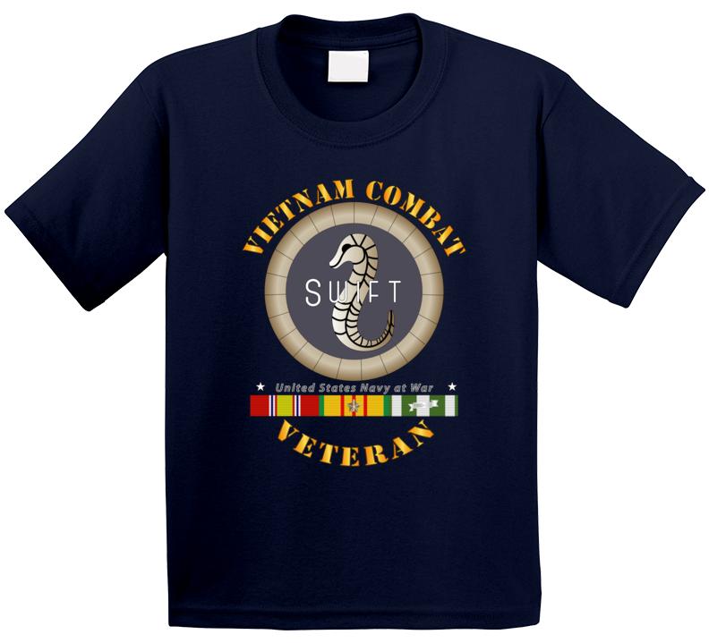 Navy - Vietnam Cbt Vet - Navy Coastal Surveillance Force W Svc T Shirt