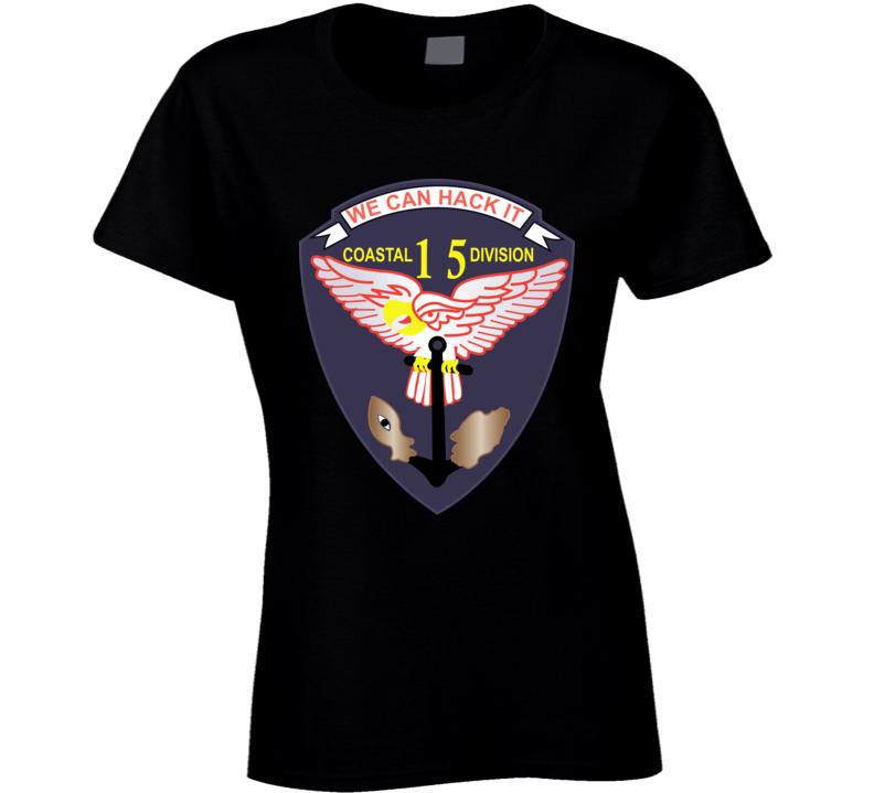 Navy - Vietnam Cbt Vet - Navy Coastal Div 15 - Swift Wo Txt Ladies T Shirt