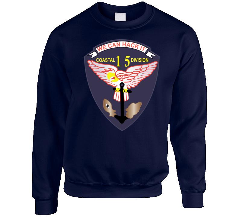 Navy - Vietnam Cbt Vet - Navy Coastal Div 15 - Swift Wo Txt Crewneck Sweatshirt