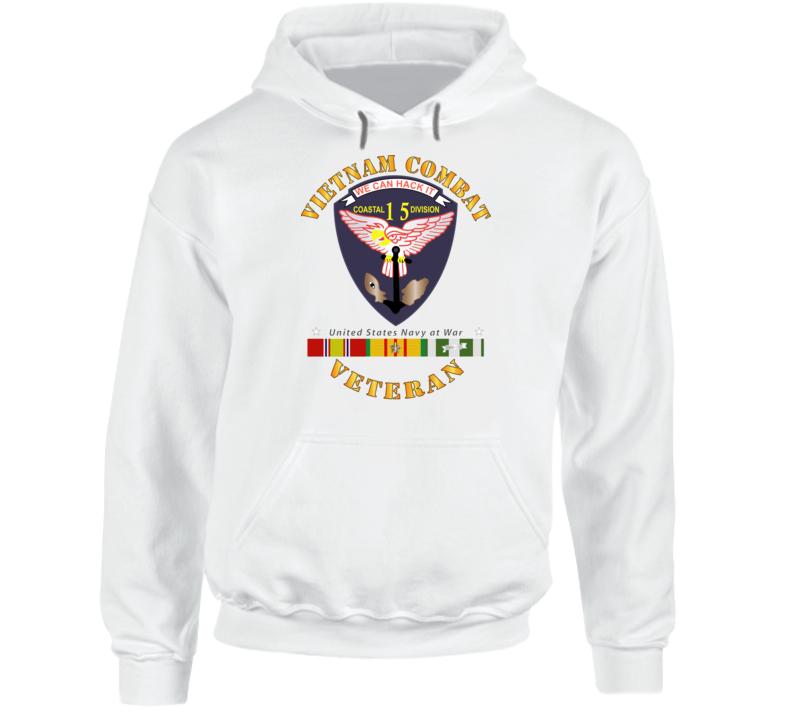 Navy - Vietnam Cbt Vet - Navy Coastal Div 15 - Swift W Svc Hoodie
