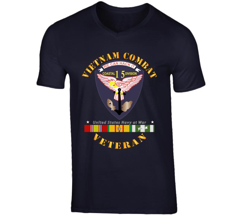 Navy - Vietnam Cbt Vet - Navy Coastal Div 15 - Swift W Svc T Shirt