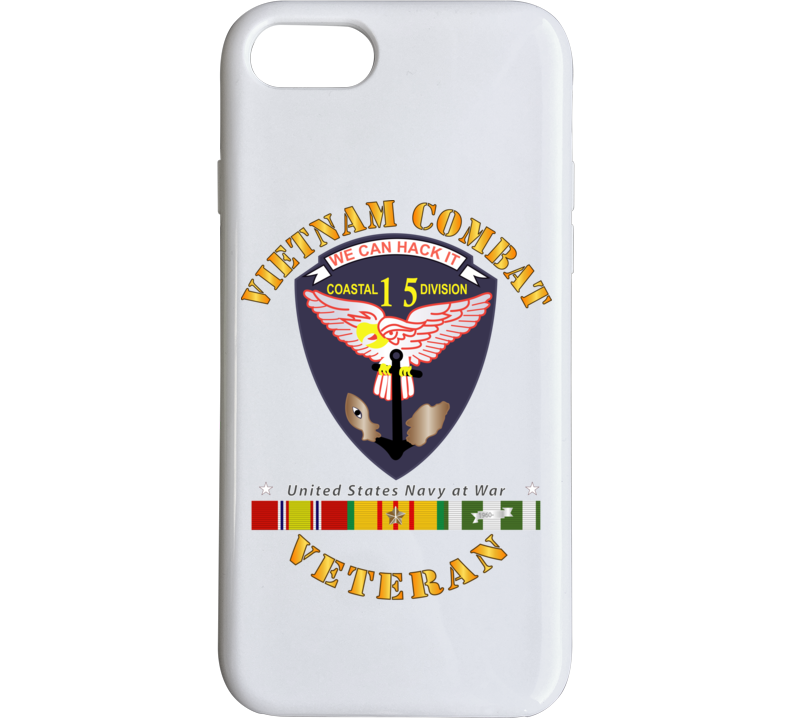 Navy - Vietnam Cbt Vet - Navy Coastal Div 15 - Swift W Svc Phone Case