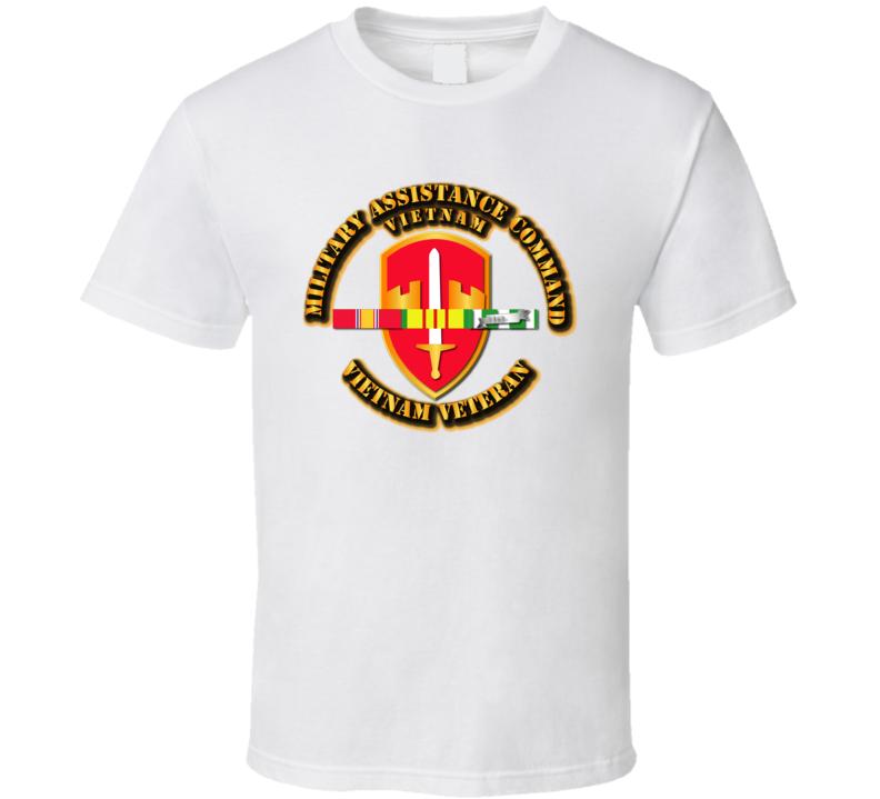 Army -  Macv W Svc Ribbons T Shirt