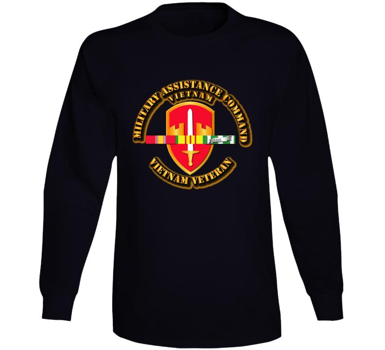 Army -  Macv W Svc Ribbons Long Sleeve T Shirt