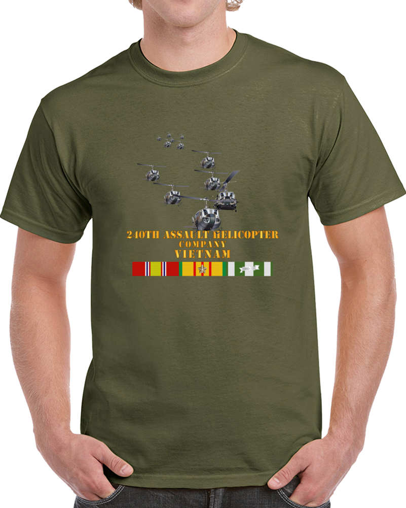 Army - 240th Assault Helicopter Co W Vn Svc T Shirt