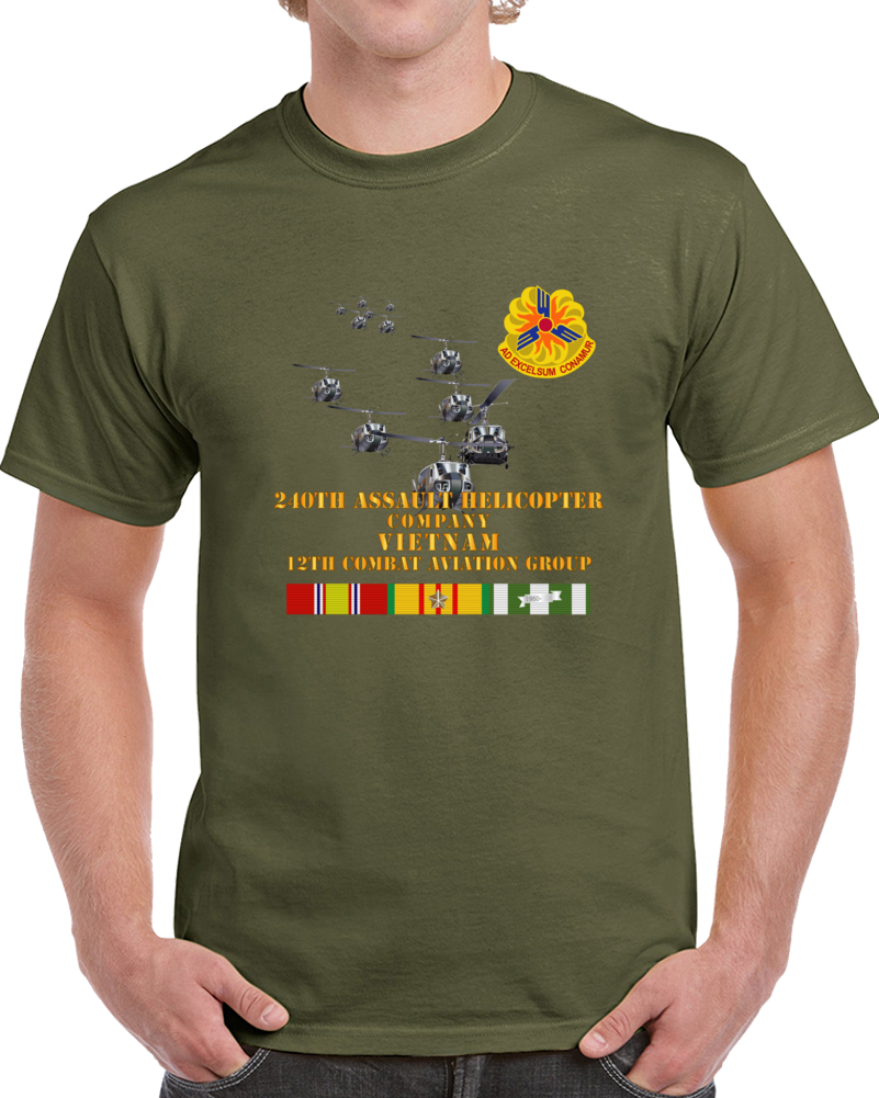 Army - 240th Assault Helicopter Co W 12th Cab W Vn Svc T Shirt