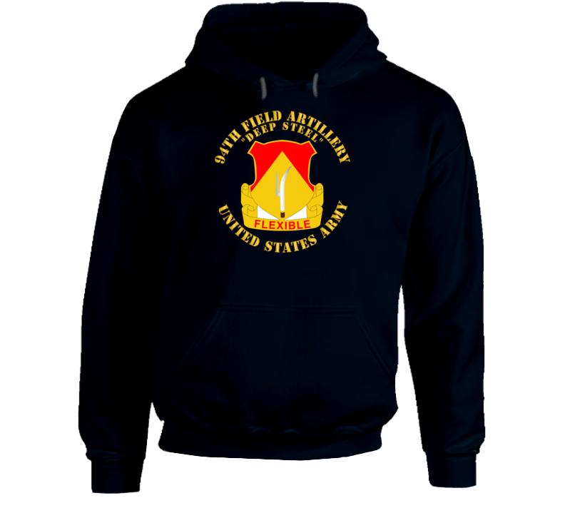 Army - 94th Field Artillery Regiment - Deep Steel Hoodie