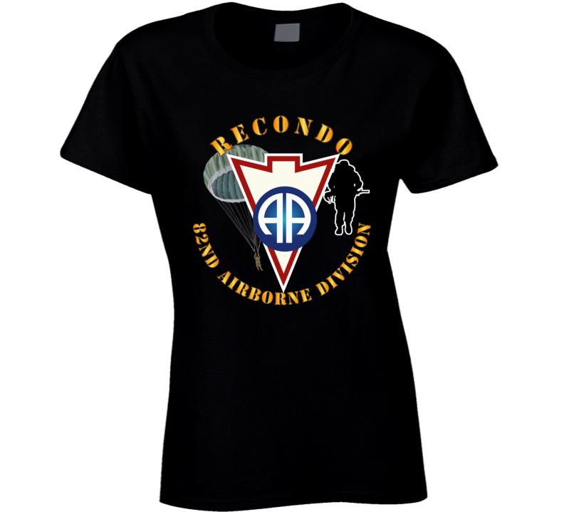 Army - Recondo - Para - 82ad Wo Ds Ladies T Shirt