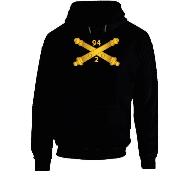 Army - 2nd Bn, 94th Field Artillery Regiment - Arty Br Wo Txt Hoodie