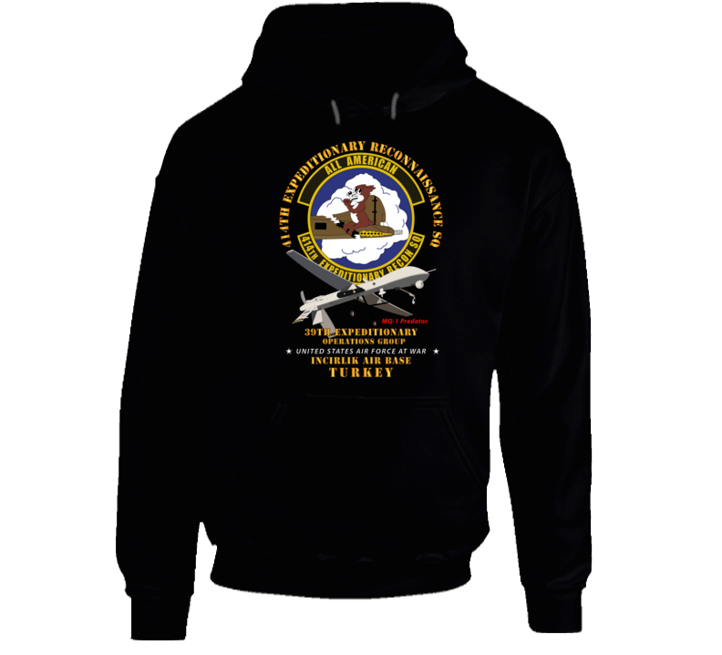 Usaf - 414th Expeditionary Reconnaissance Sq - Incirlik Air Base, Turkey Hoodie