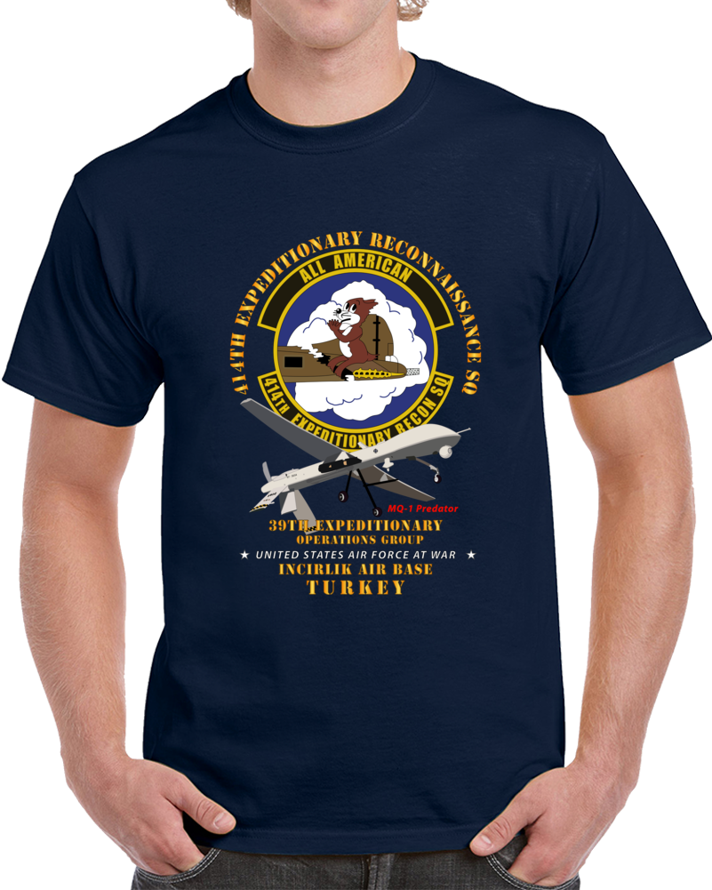 Usaf - 414th Expeditionary Reconnaissance Sq - Incirlik Air Base, Turkey T Shirt