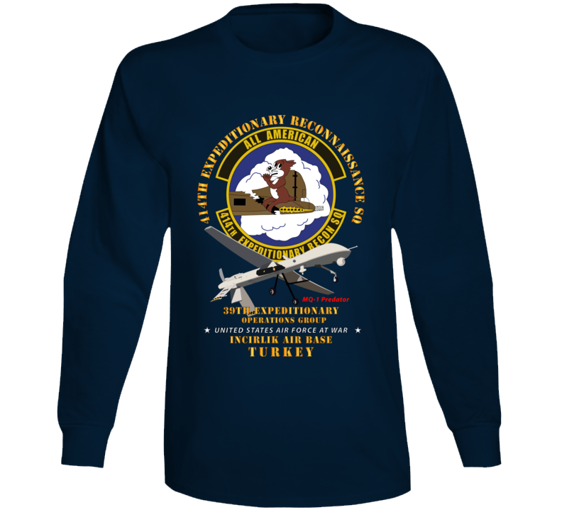 Usaf - 414th Expeditionary Reconnaissance Sq - Incirlik Air Base, Turkey Long Sleeve T Shirt