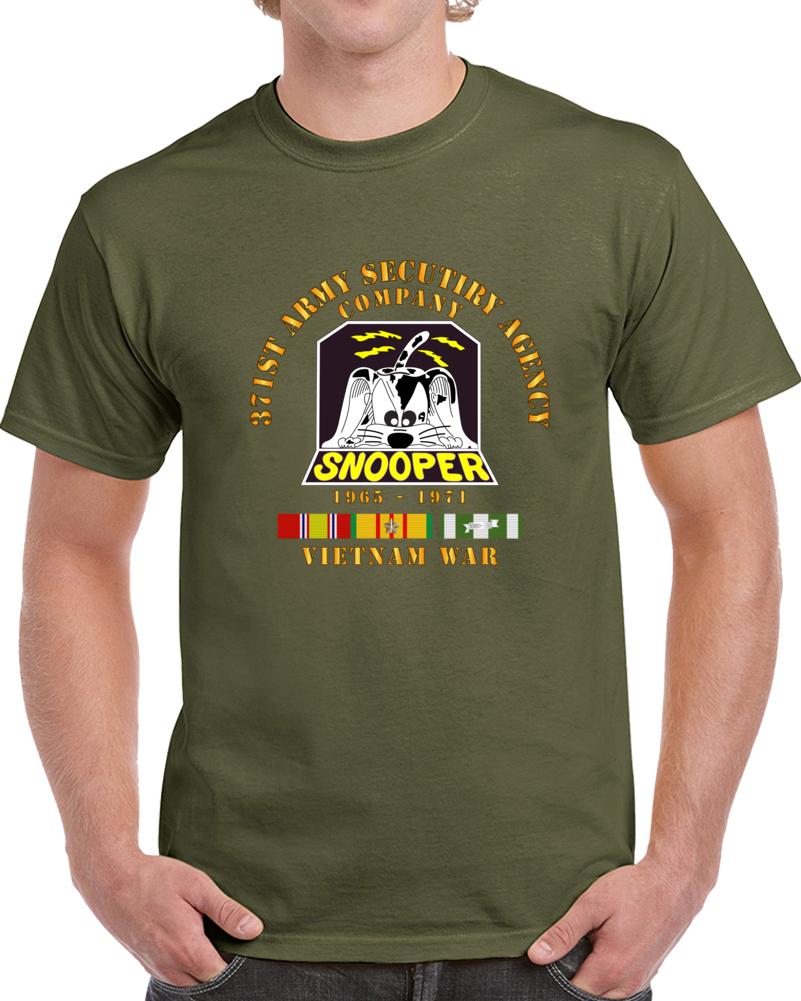 Army - 371st Asa Company - 1965 - 1971 W Vn Svc T Shirt