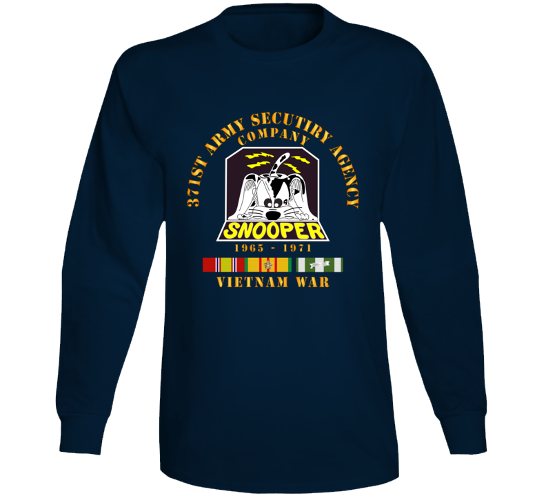 Army - 371st Asa Company - 1965 - 1971 W Vn Svc Long Sleeve T Shirt
