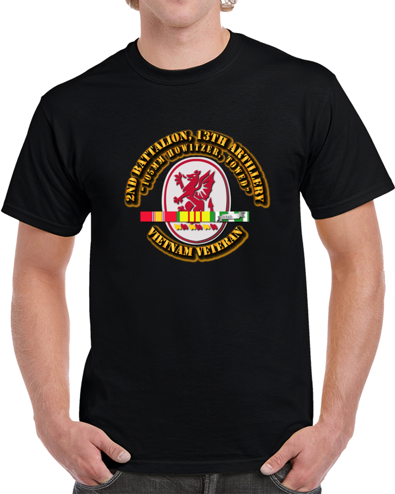 2nd Battalion, 13th Artillery With Svc Ribbon T Shirt