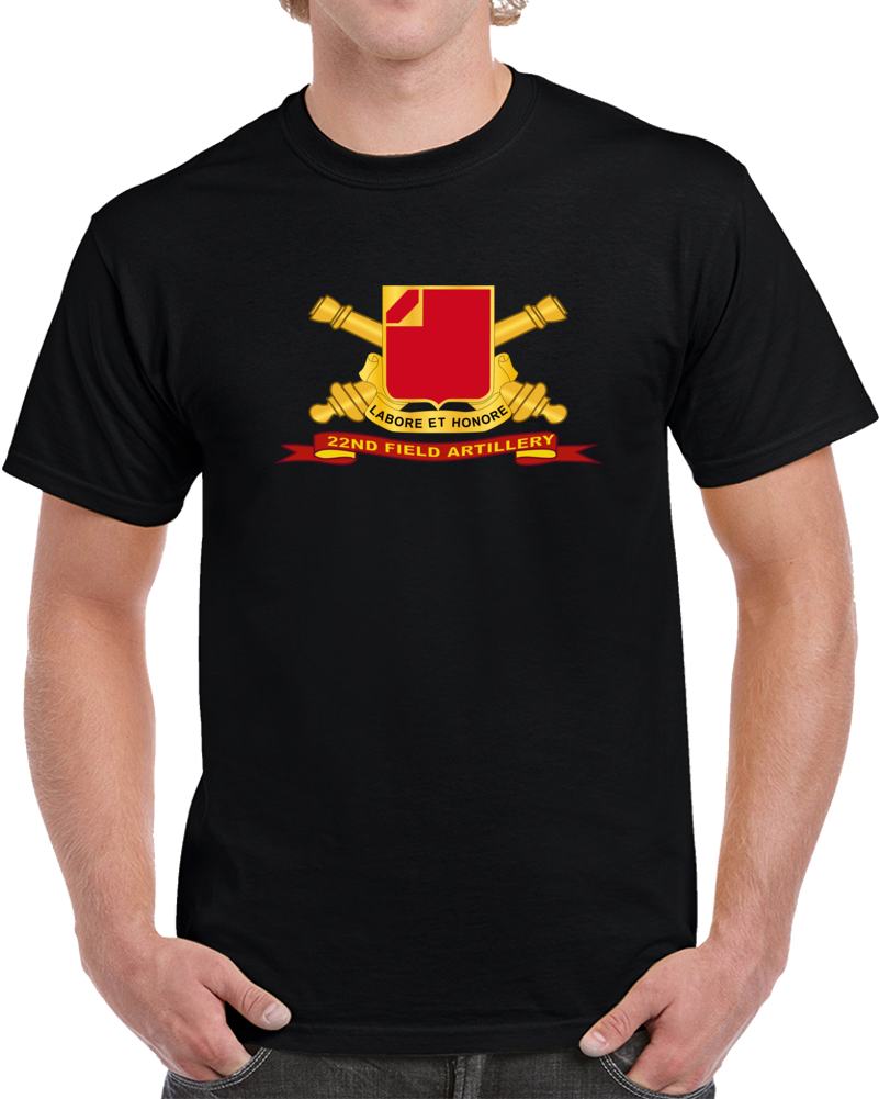 Army - 22nd Field Artillery W Br - Ribbon T Shirt