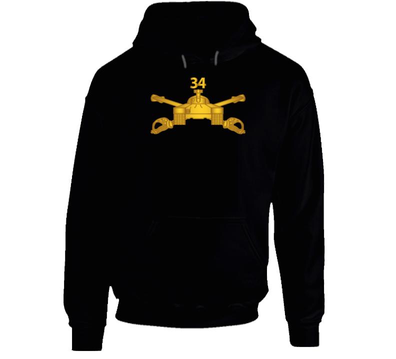 Army - 34th Armor Regiment - Armor Branch Wo Txt Hoodie
