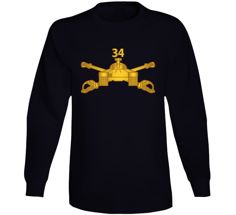 Army - 34th Armor Regiment - Armor Branch Wo Txt Long Sleeve T Shirt