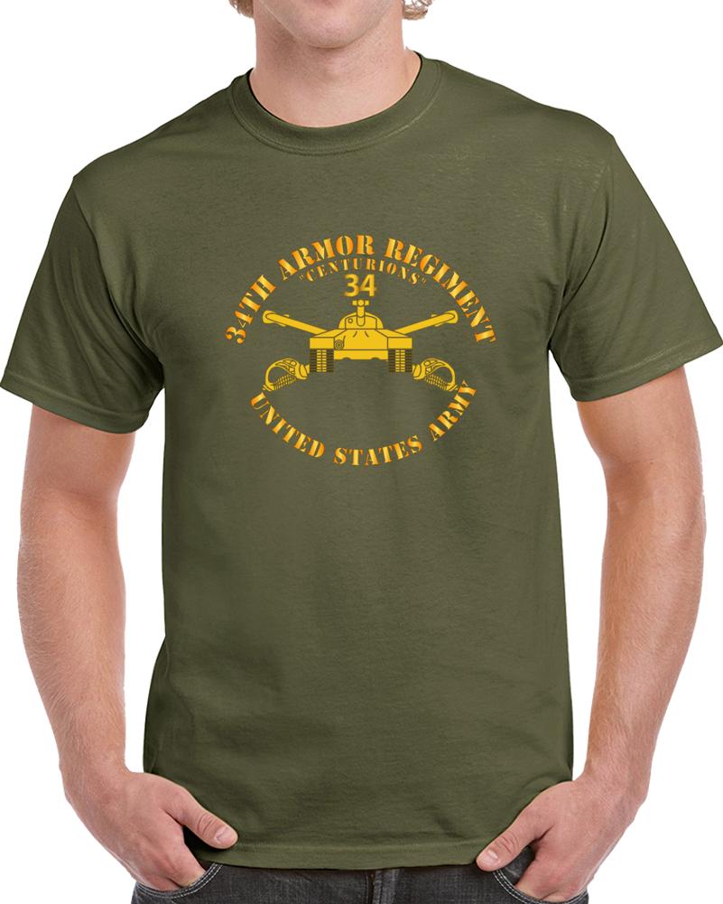 Army - 34th Armor - Centurions  - Armor Branch T Shirt
