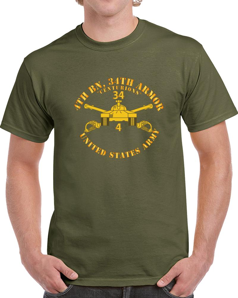 Army - 4th Bn, 34th Armor - Centurions  - Armor Branch T Shirt