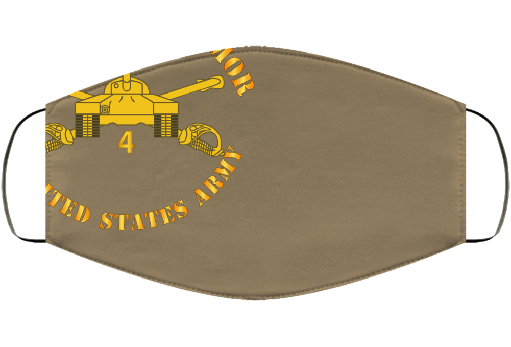Army - 4th Bn, 34th Armor - Centurions  - Armor Branch Face Mask Cover