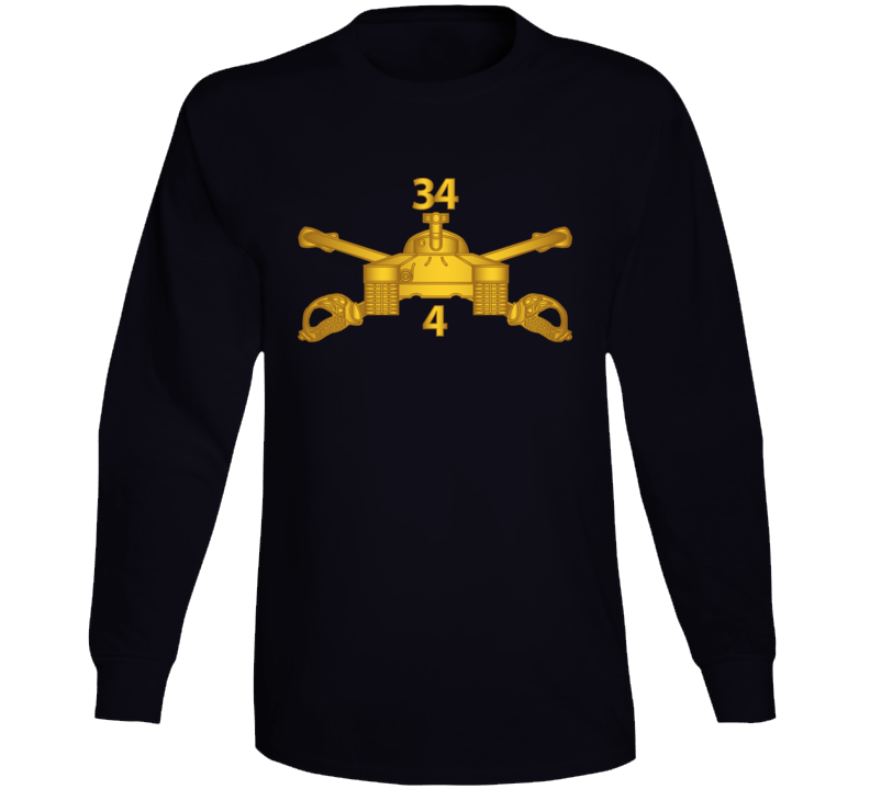 Army - 4th Bn 34th Armor - Armor Branch Wo Txt Long Sleeve T Shirt