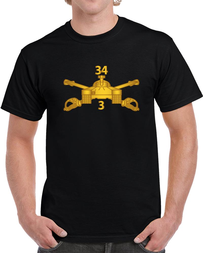 Army - 3rd Bn 34th Armor - Armor Branch Wo Txt T Shirt