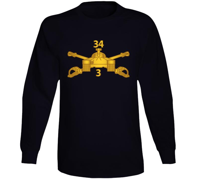 Army - 3rd Bn 34th Armor - Armor Branch Wo Txt Long Sleeve T Shirt