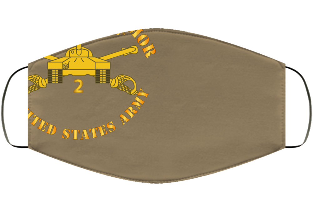 Army - 2nd Bn 34th Armor - Dreadnaughts - Armor Branch Face Mask Cover