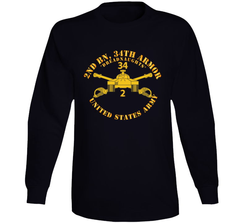 Army - 2nd Bn 34th Armor - Dreadnaughts - Armor Branch Long Sleeve T Shirt