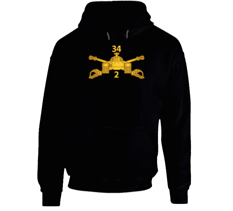 Army - 2nd Bn 34th Armor - Armor Branch Wo Txt Hoodie
