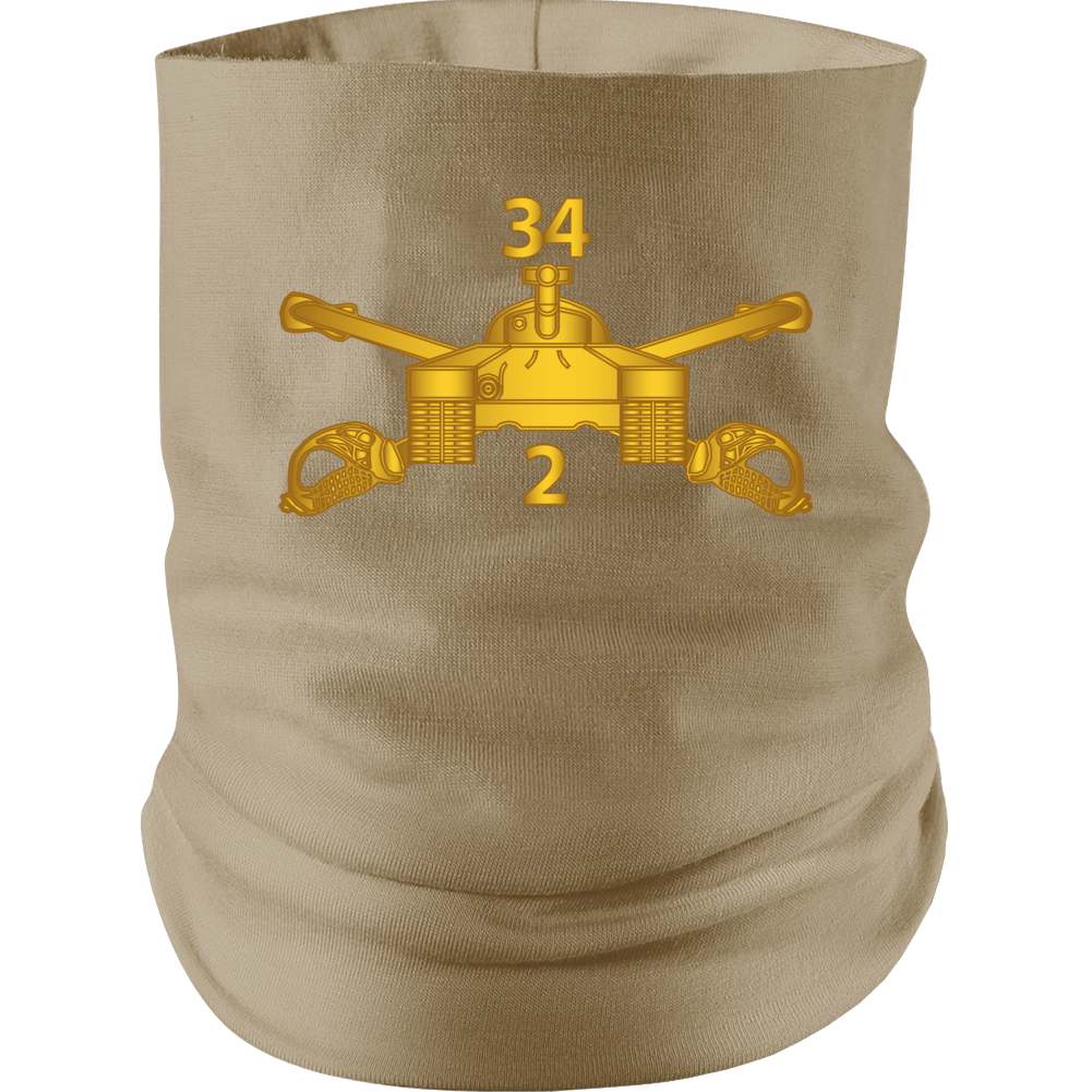 Army - 2nd Bn 34th Armor - Armor Branch Wo Txt Neck gaiter