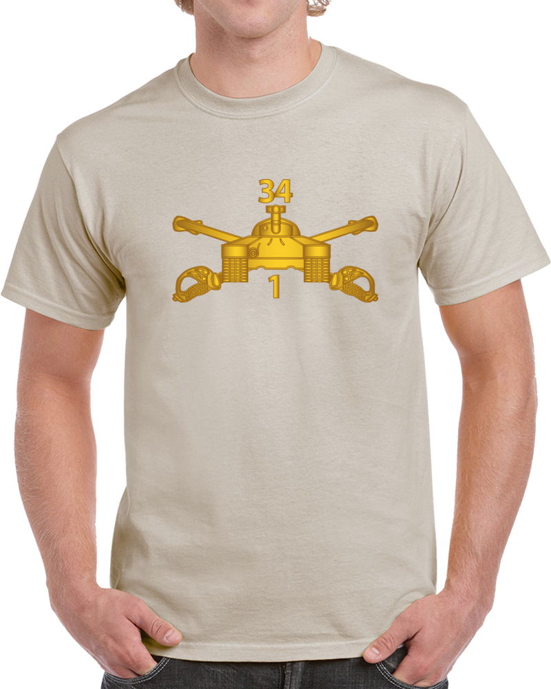 Army - 1st Bn 34th Armor - Armor Branch Wo Txt T Shirt