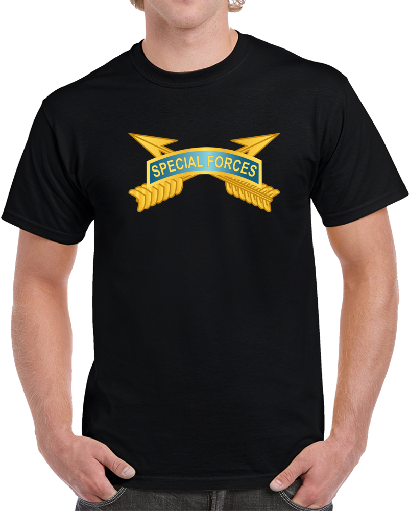 Army - Special Forces Tab W Sf Branch Wo Txt T Shirt