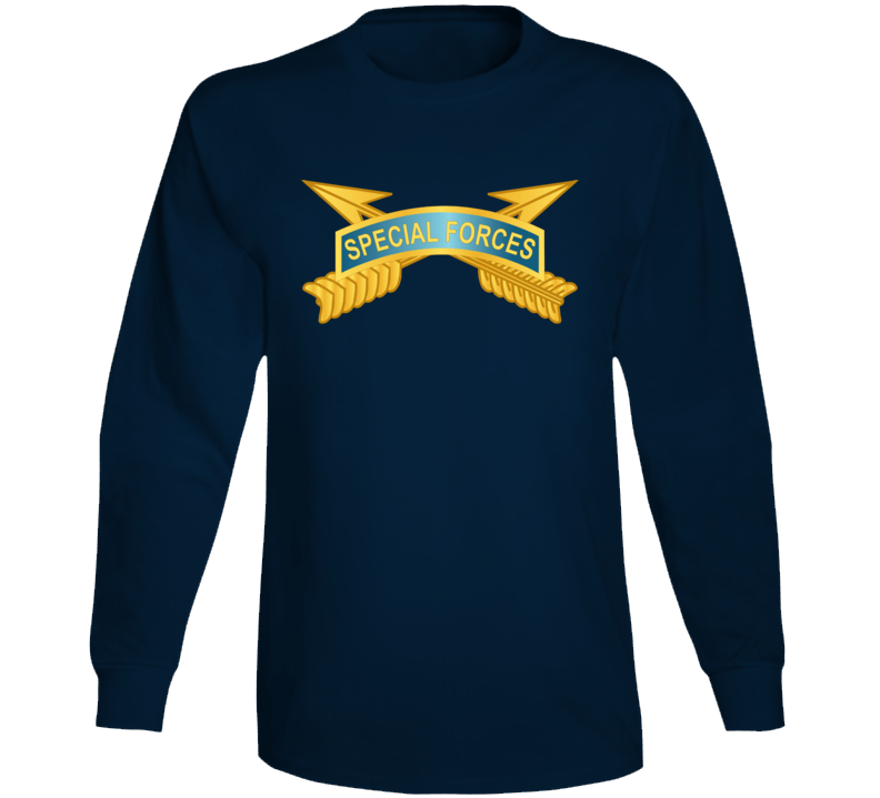 Army - Special Forces Tab W Sf Branch Wo Txt Long Sleeve T Shirt