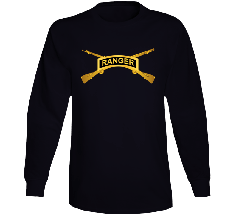 Army - Ranger Tab W  Infantry Branch Wo Txt Long Sleeve T Shirt