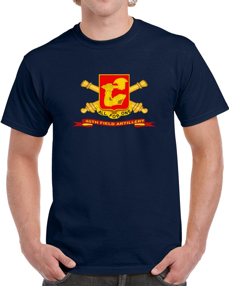 Army - 40th Field Artillery W Br - Ribbon T Shirt