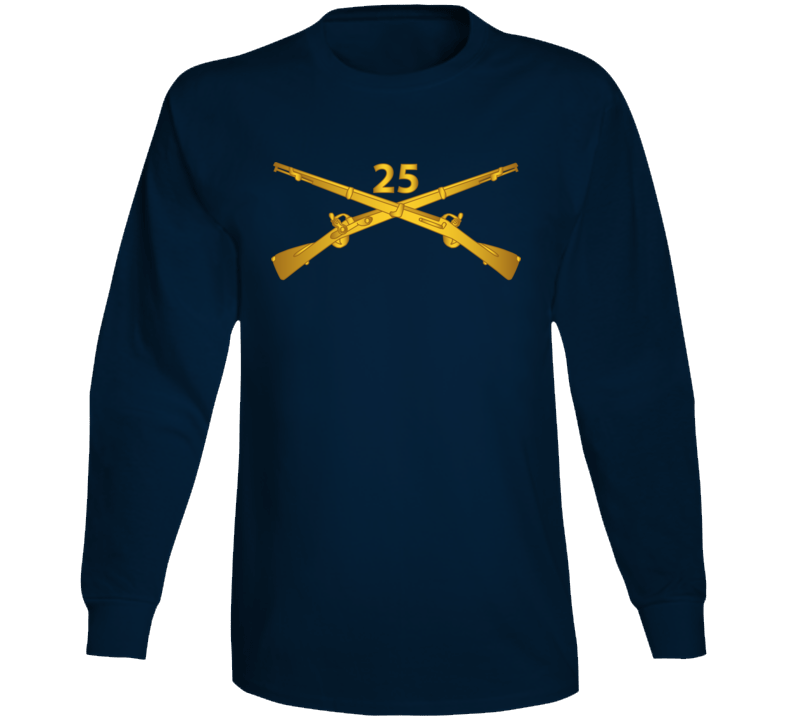 Army - 25th Infantry Regiment Branch Wo Txt Long Sleeve T Shirt