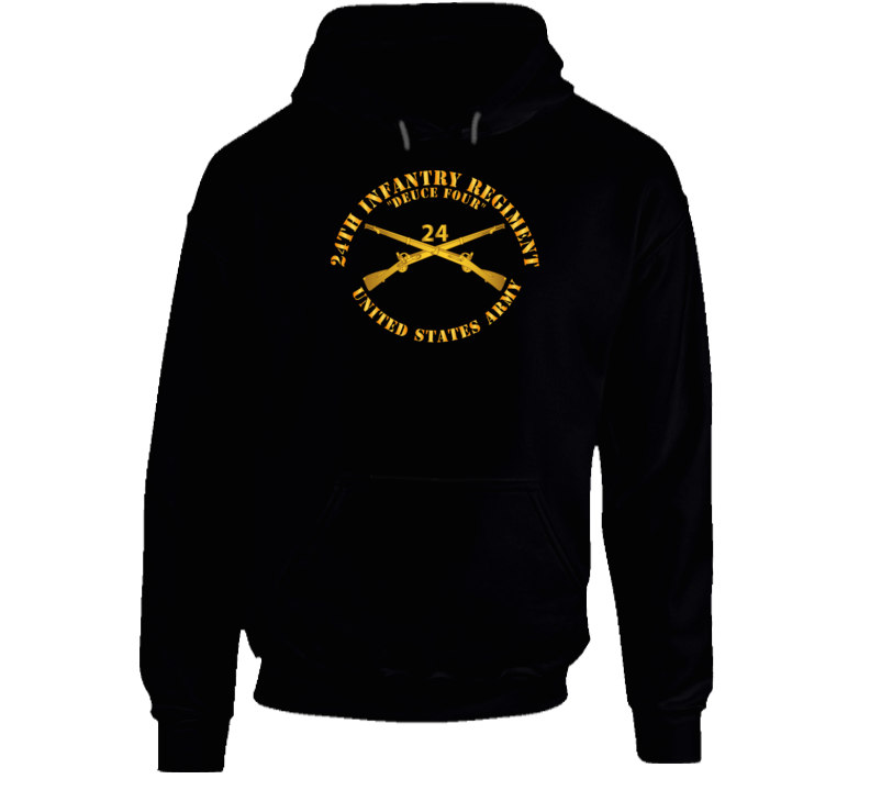 Army - 24th Infantry Regiment - Deuce Four  - Branch Insignia Hoodie