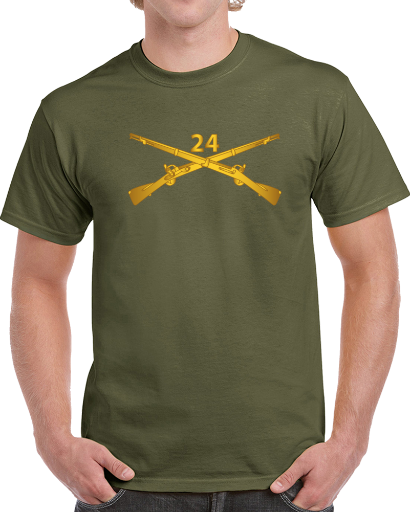 Army - 24th Infantry Regiment Branch Wo Txt T Shirt