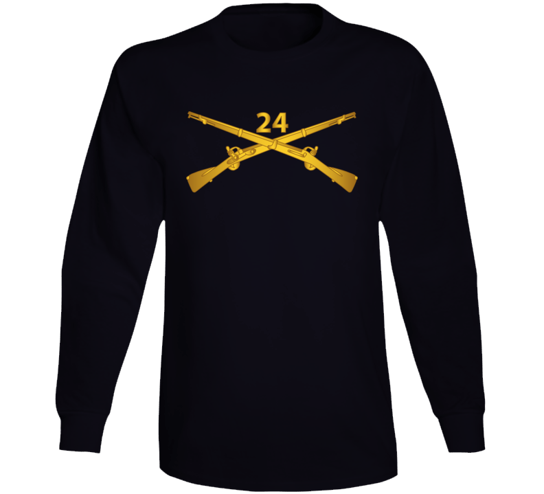 Army - 24th Infantry Regiment Branch Wo Txt Long Sleeve T Shirt