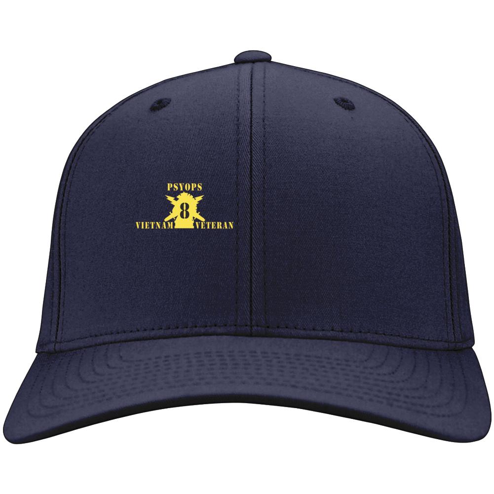 Army - Psyops W Branch Insignia - 8th Battalion Numeral - W Vietnam Vet X 300 - Hat