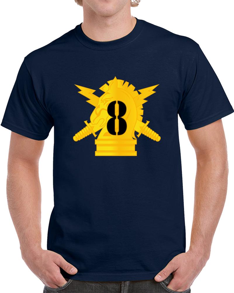 Army - Psyops W 8th Battalion Numeral - Line X 300 - T Shirt