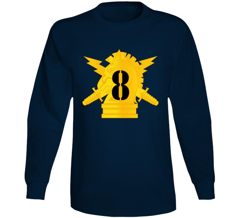 Army - Psyops W 8th Battalion Numeral - Line X 300 - Long Sleeve T Shirt