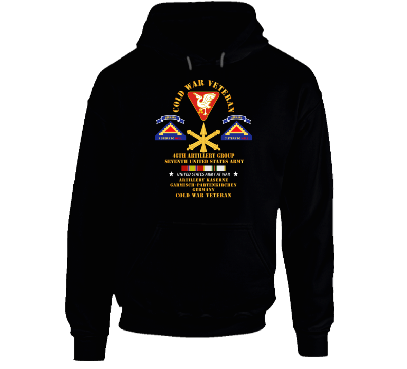 Army - Cold War Vet - 46th Artillery Group - Germany - 7th Us Army - Missile Branch W Cold Svc Hoodie